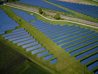 Solar panels field - Green Deal goals, SMEs and sustainable business models